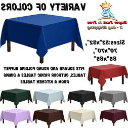 Square Tablecloth Table Cloth Cover Protector Polyester Buff