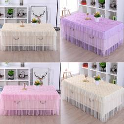 Square Tablecloth Table Cover Kitchen Dinning Wedding Party
