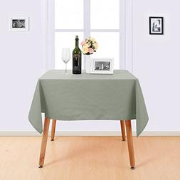 Deconovo Square Tablecloth Water Resistant Table Cloth Solid