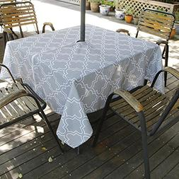 Eforcurtain Square 60Inch Outdoor Umbrella Tablecloth with Z
