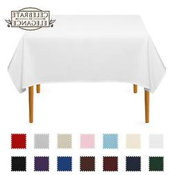 Square Wedding Banquet Polyester Fabric Tablecloth