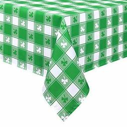 """Sunm Boutique St Patrick's Day Table Cloth, Shamrock 60"""" ×"""