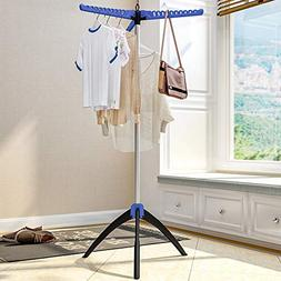 Laogg Standing Coat Stand Baby Clothes Hanger Landing Foldin