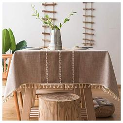 Jiuhong Stitching Tassel Tablecloth Heavy Weight Cotton Line