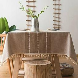 ColorBird Stitching Tassel Tablecloth