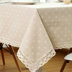 LINENLUX Stylish Rectangular Tablecloth Table Cover for Kitc