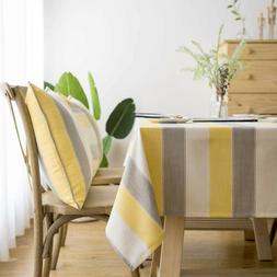 LINENLUX Stylish Square Rectangle/Oblong 55 X 70 In, Yellow