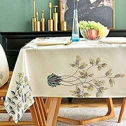 LINENLUX Stylish Square Rectangular Tablecloth/Table Cover F