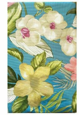 Summer Fun Tropical Floral Vinyl Tablecloth Assorted Sizes O