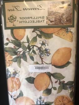 Lemon Tree Summer Tablecloth 60 x 104 Spill Proof Indoor Out