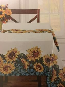 SUNFLOWER TABLE CLOTH by Benson Mills : machine washable, wr