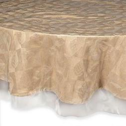 "Super Clear Table Cloth Cover Protects Fabrics 70"" Round Hea"