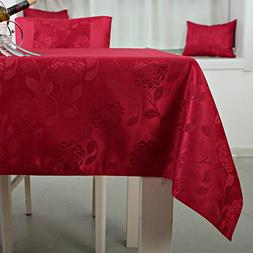 Table cloth,Waterproof table cloth,Rectangle Red table cloth