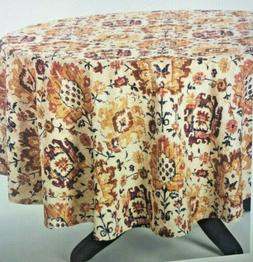 """Table cloth Jacobean Round Tablecloth Size 70""""- Threshold"""