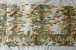 Anthropologie Table Cloth Linen Cotton Blend Retro Print 120