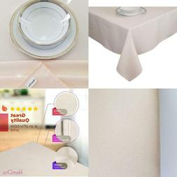 HOMCHIC Table Cloth, Linen Look, Spill Proof, Washable, Spec