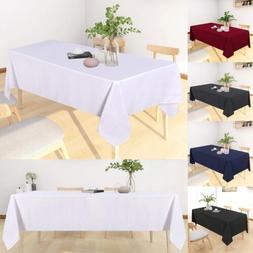 Table Cloth Spill-Proof Water Resistance Tablecloth Oil-Proo