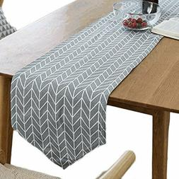 Table Cotton Linen Cloth Pastoral Style Rectangular Printed