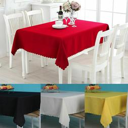 Table Cover Cloth Party Tablecloth Rectangle Theme Cotton Bl