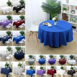 table cover cloth party tablecloth round square
