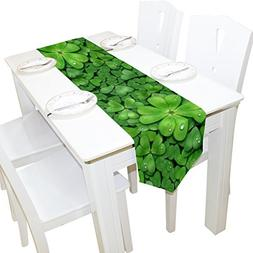 ALAZA Table Runner Home Decor, St. Patricks Day Table Cloth