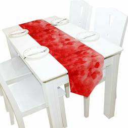 Alaza Table Runner Home Decor, Retro Valentine'S Day Heart T