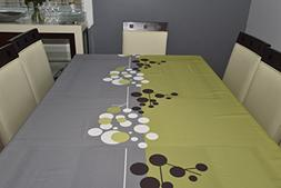 Tablecloth Contemporary grey- modern -100% polyester -washab
