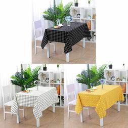 Tablecloth Cotton Soft Table Cover Oil Stain Water Resistant