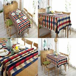 Tablecloth Cotton Thicker Dining Table Linens Sofa Cover For