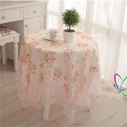 Tablecloth Floral Table Cover Sheet Round Square Washable Ta