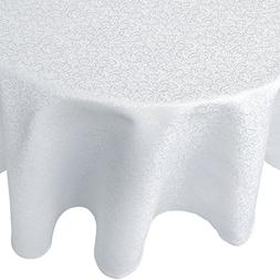 R.LANG Tablecloth Oval 60 x 120-inch Spillproof Jacquard Tab