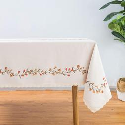 Wewoch Tablecloth Rectangle Table Cloth Cotton Linen Washabl