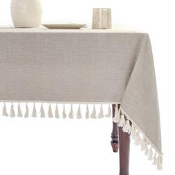 Tablecloth, Rectangle Table Cloth for 4 ft Table, Cotton Lin