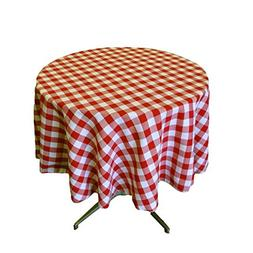 """Runner Linens Factory Tablecloth Round 54"""" Checkered Perfect"""