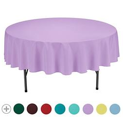 VEEYOO Tablecloth 90 inch Round Solid Polyester Table Cloth
