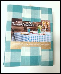 tablecloth teal plaid charming check