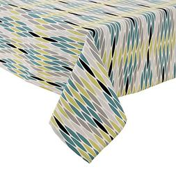 Deconovo Tablecloths Cotton Linen Tablecloth Waterproof Mode