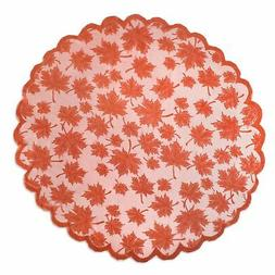 DII Tablecloths Fall/ Thanksgiving Maple Leaf Lace Table Top