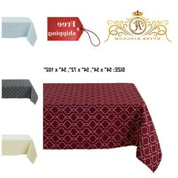 Tablecloths Table Cloth Covers Jacquard Spillproof Water Res