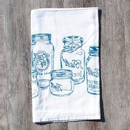 Tea Towel Flour Sack Cotton Kitchen Table Linens Screen Prin