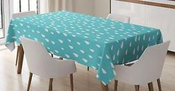 Teal Tablecloth Ambesonne 3 Sizes Rectangular Table Cover Ho