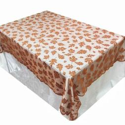 Thanksgiving Decorations Tablecloth Embroidered Maple Leaf T