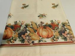 """Thanksgiving Table Cloth 58"""" Wide 84"""" Long Cloth - VERY Gent"""
