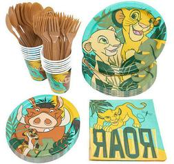 THE LION KING Birthday Party Kit for 8 guests Plates Napkins