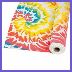 Fun Express - Tie Dye Tablecloth Roll - Party Supplies - Tab