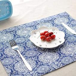 New tie-dyed cotton cloth placemat double Japanese-style tab
