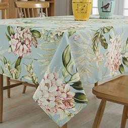 Tina Vintage Floral Cotton Linen Rectangular Table Cover Din