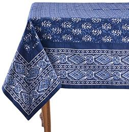 "Mahogany Tonk Rectangle Tablecloth, 60 x 90"", Indigo"