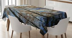 Tree tops against the sky Decorations Tablecloth by Ambesonn