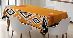Tribal Tablecloth Ethnic African Design Rectangular Table Co